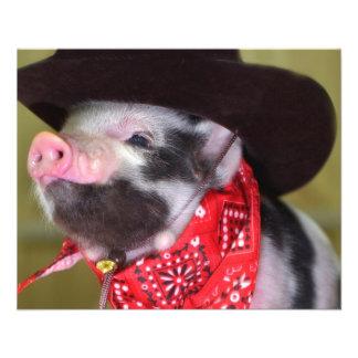 babyar för boskap för Piglet för valpCowboybaby Reklamblad 11,5 X 14 Cm