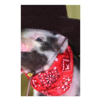 babyar för boskap för Piglet för valpCowboybaby Reklamblad 14 X 21,5 Cm