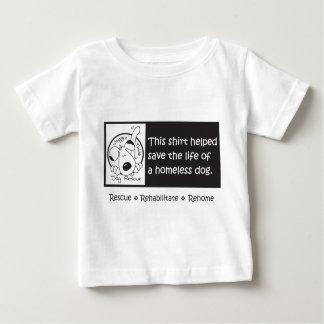 Babyar kan hjälpa hemlösa hundar, för t-shirt