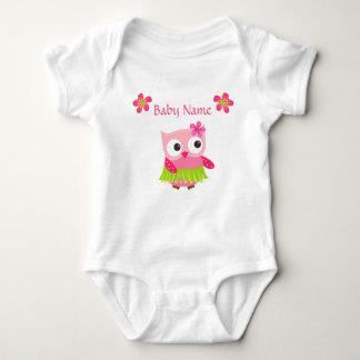 BabyBodysuitugglan, tropiska blommor, T-shirt