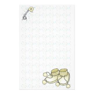 BabyBootie gul brevpapper