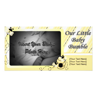 Babybumblemeddelande Fotokort