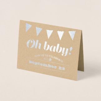 BabyBunting Folierat Kort