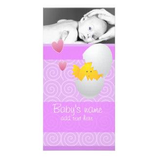 Babychickmeddelande Fotokort