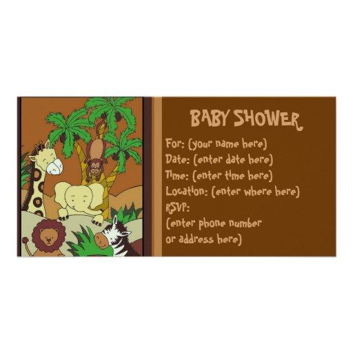 Babydjungel 10 baby shower fotokort mall