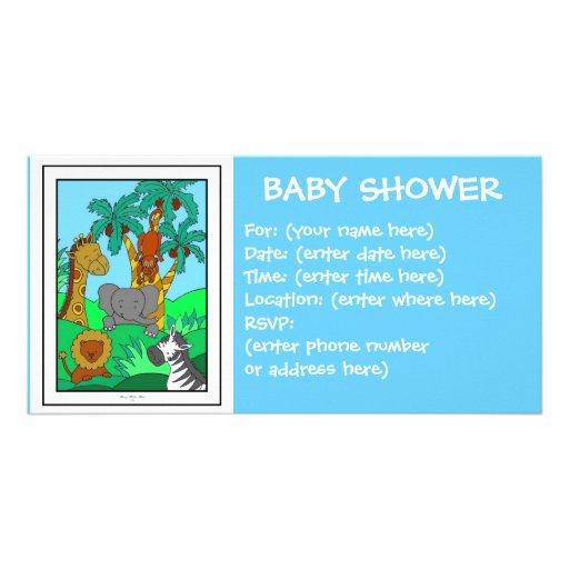 Babydjungel 1 baby shower fotokort mall