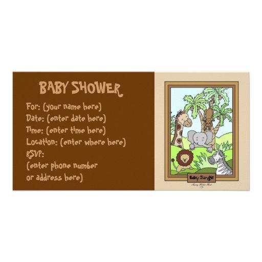 Babydjungel 20 baby shower foto kort