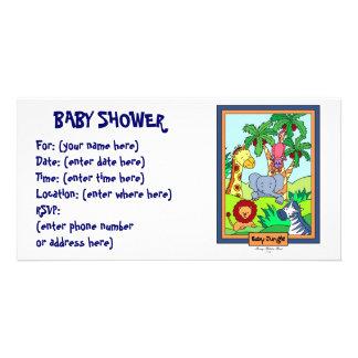 Babydjungel 28 baby shower foto kort