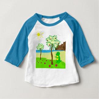 Babydraken samlar frukt t-shirt
