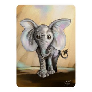 Babyelefant 12,7 X 17,8 Cm Inbjudningskort