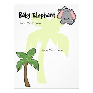 Babyelefant Cutie Personliga Flygblad