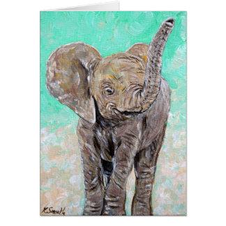 Babyelefant Hälsningskort