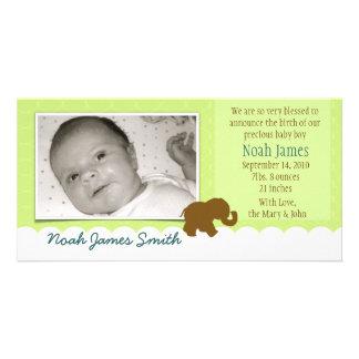 Babyelefant i choklad med limefrukt fotokort