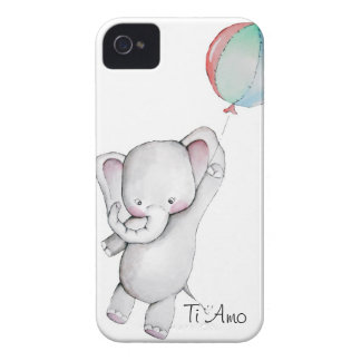 Babyelefant med ballongblackberry fodral Case-Mate iPhone 4 fodral