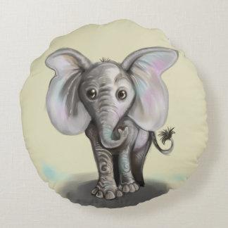 Babyelefant Rund Kudde