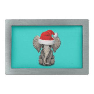 Babyelefant som ha på sig en Santa hatt