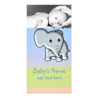 Babyelefantmeddelande Fotokort