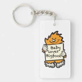 Babyen älskar Bigfoot Keychain