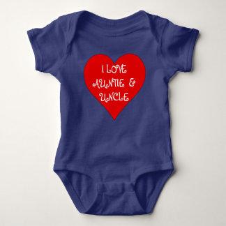 Babyen älskar jag Auntie & Uncle Romper Tröja