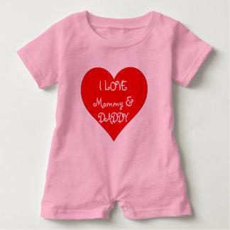 Babyen älskar jag mammor & papparomperen tee shirts