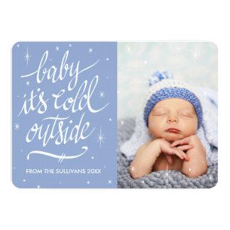 Babyen är det den kalla yttersidan i kort för 12,7 x 17,8 cm inbjudningskort