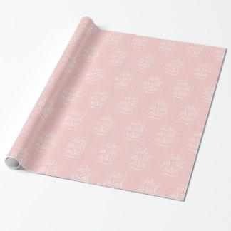 Babyen är det kallt ut utanför i rosa kvartar presentpapper