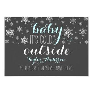 Babyen är det kallt utanför baby 8,9 x 12,7 cm inbjudningskort