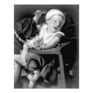 Babyen besvärar in personliga flygblad