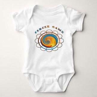 Babyen Bodysuit-Cirklar modig design Tröja