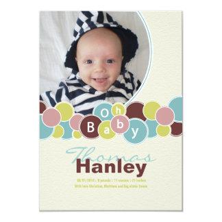 Babyen bubblar födelsemeddelandet {TBA} 12,7 X 17,8 Cm Inbjudningskort