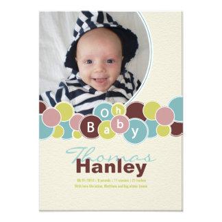 Babyen bubblar födelsemeddelandet TBA Inbjudningar