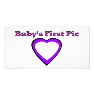 Babyen föreställer först de MUSEUMZazzle gåvorna Hälsningskort Med Foto