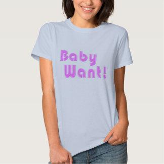 Babyen önskar! t-shirts