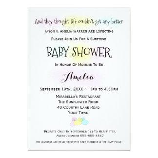 Babyen slår pojke- eller flickababy showerinbjudan 12,7 x 17,8 cm inbjudningskort