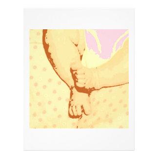 Babyfotbaby shower reklamblad 21,5 x 30 cm