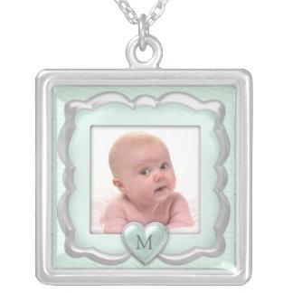 Babyfotohalsband Silverpläterat Halsband