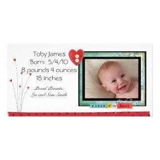 Babyfotokort Skräddarsydda Fotokort