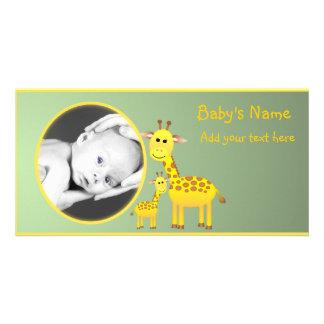 Babygiraffmeddelande Fotokort