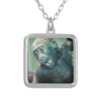 Babygorilla Silverpläterat Halsband
