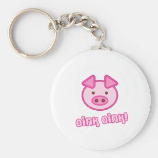 Babygristecknad Nyckelring