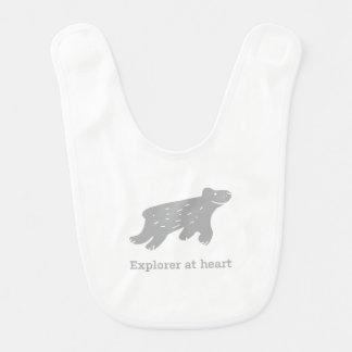 Babyhaklapp med den polara björnen/den stora hakklapp