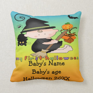 Babyhäxa min 1st Halloween dekorativ kudde