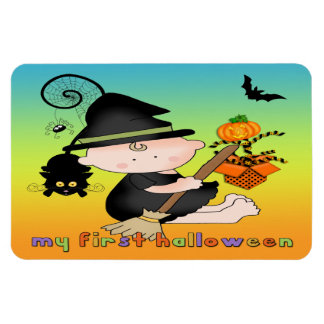 Babyhäxa min 1st Halloween sladdmagneter Vinyl Magnet