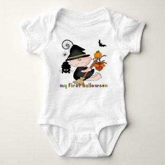 Babyhäxa min 1st Halloween spädbarnranka Tee
