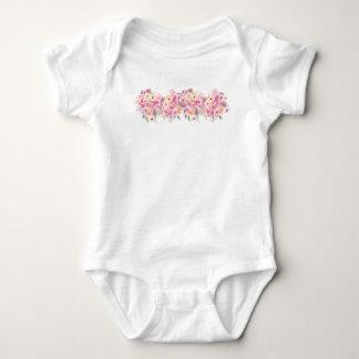 BabyJersey Bodysuit, handpainted blommor Tee Shirts
