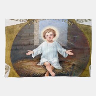 BabyJesus dekorativt konstverk Kökshandduk