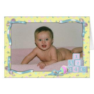 Babymeddelande Hälsningskort