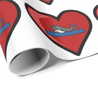 BabyNarwhal kärlek Presentpapper
