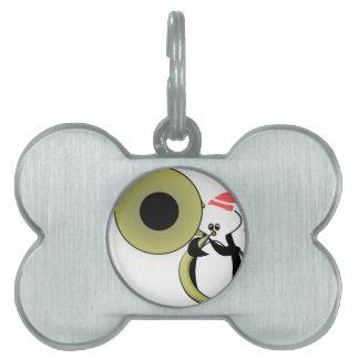 Babypingvin med tubaen namnbricka husdjur