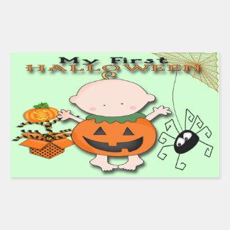 Babypumpa min 1st Halloween rektangelklistermärke Rektangulärt Klistermärke